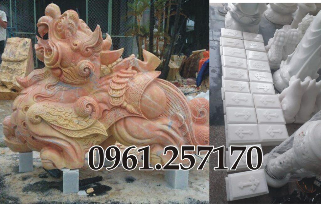 Khắc đá linh vật, tượng trang trí và bia mộ tại 131 Nguyễn Xiển, thanh xuân, hà nội.